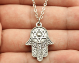 Hamsa & Star of David Pendant Necklace