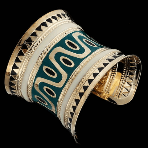Tribal Gold Plated Cuff Bracelet
