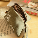 Small Canvas Change Wallet / Purse