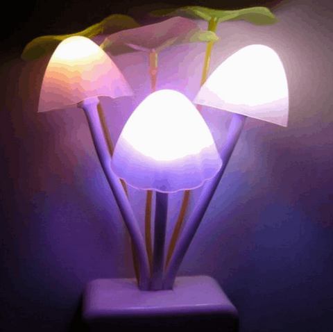 Romantic LED Mushroom Night Light