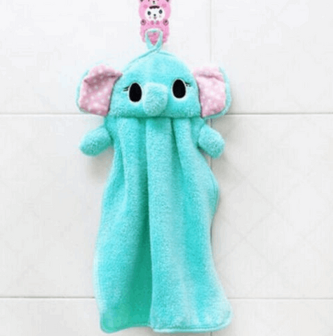 Soft Animal Hanging Wipe Bathing Towel