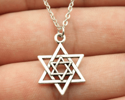 Double Star of David Pendant Necklace