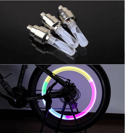 1X Bicycle Tyre LED changing colores Light