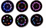 1X Bicycle wheel Flashlight 12 Patterns LED Light