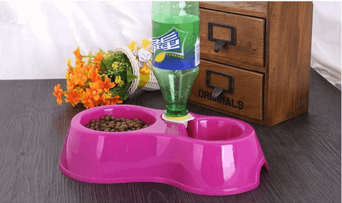 Double Bowl Feeder + Automatic Watering