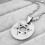 Curved Plate Star of David Pendant Necklace