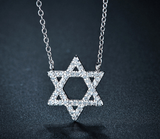 Zirconia Star of David Pendant Necklace - New Design