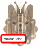 Frenchie Wall Hanging Wood Decoration ( 9 Colors)