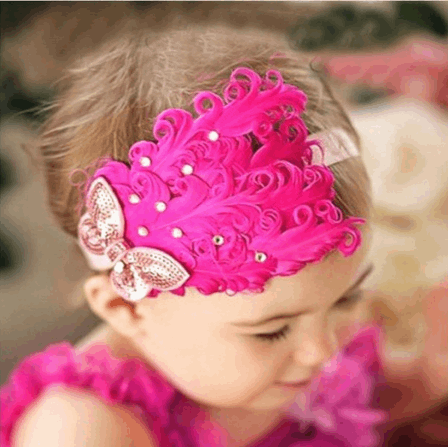 Baby's High quality Royal Feather Hairband