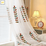 Embroidered  Sheer Curtains