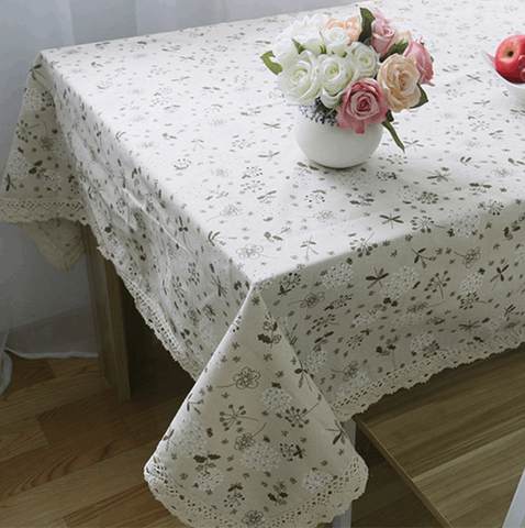 Flowers Print Table Cloth