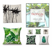 Tropical Print Cushion Cover Collection