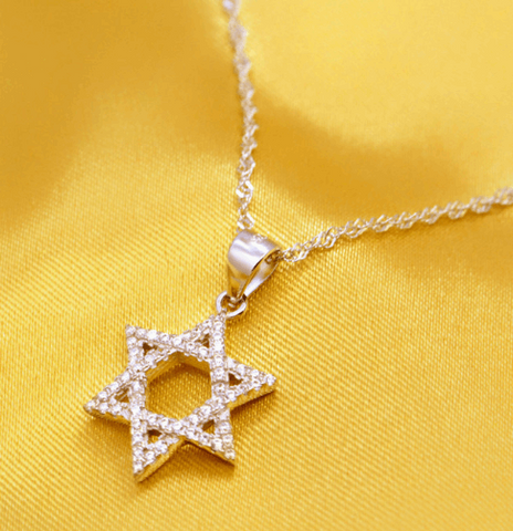 Rainstone Star of David Pendant Necklace - New