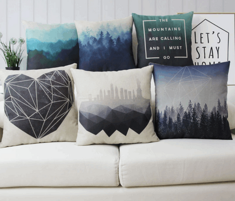 Forest Scenery Cushion Covers