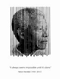 Black & White Mandela Quote Poster