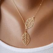 Leafs Fashion Pendant Necklace