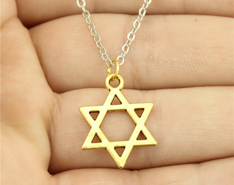 Single Star of David Pendant Necklace
