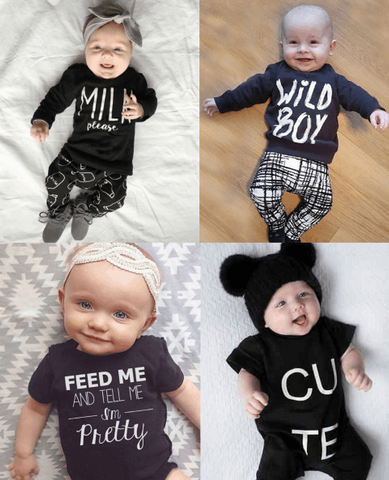 Cool Text Baby Outfits (0-24month)