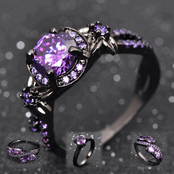 Black N Purple Rings Collection