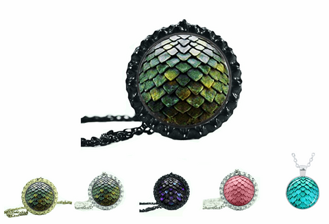 Dragon Egg Dome Glass Necklace