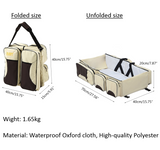 Crib-bag 3-In-1 (a portable bassinet, diaper bag and changing station)