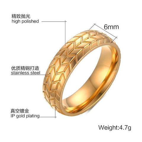 Golden/Silver Tire Rings