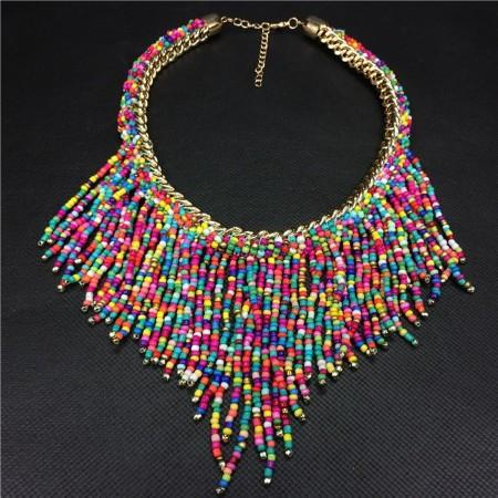 Bohemian Modern Beads Necklace