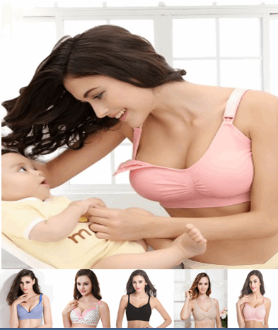 (Size 38A-40D) Breastfeeding Bra Collection