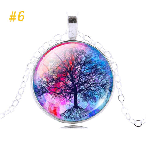 Free Spirit Art Dome Glass Necklaces