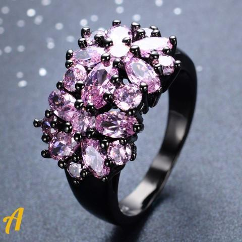 Black N Pink Rings Collection