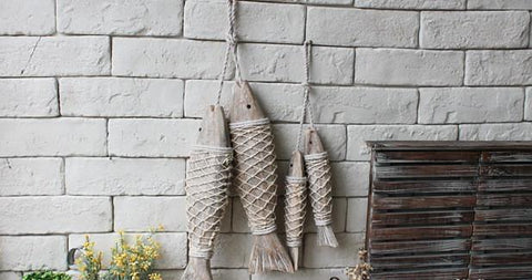 Decorative Wooden Hanging Fish