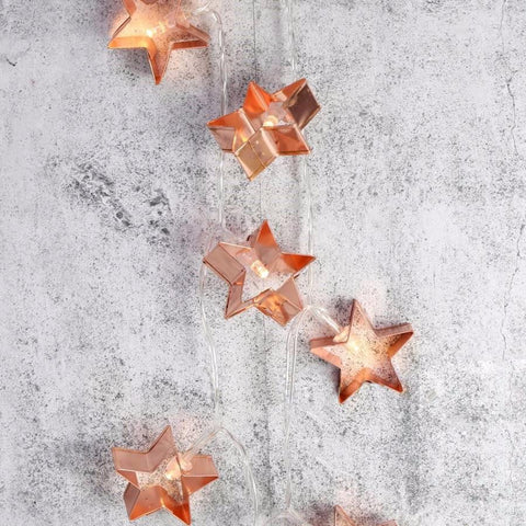 Copper Stars String Lights