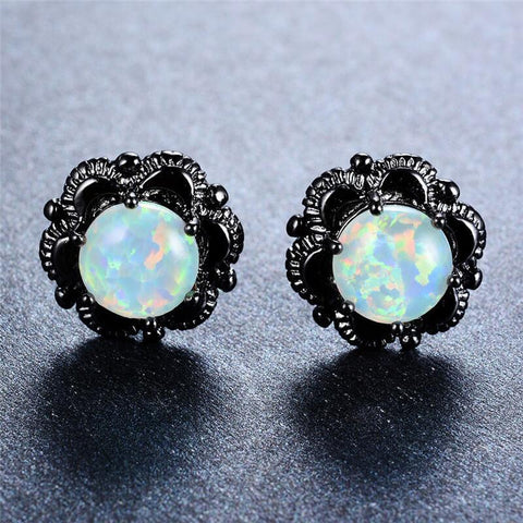 Rainbow/Ocean OPAL Earrings