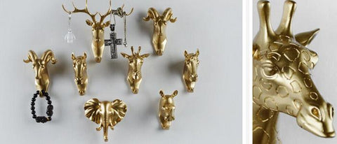 Golden Animal Wall Hangers