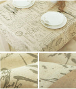 Letter Print - European Style Tablecloth