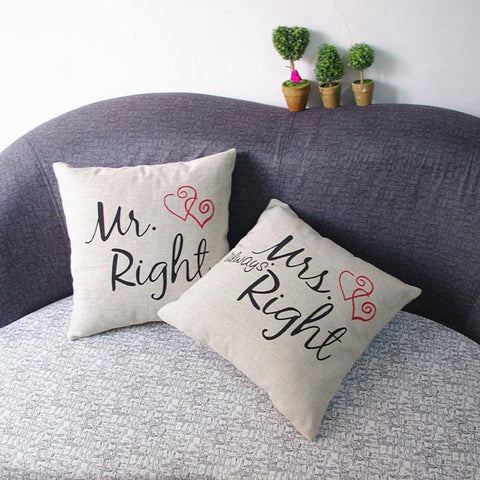The Couples Cushion Covers