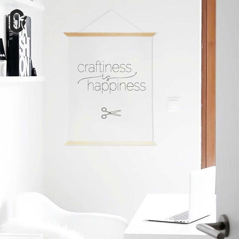 Craftiness Is Happiness Poster Wooden Frame