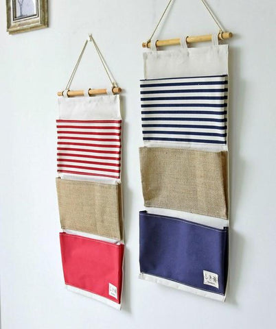 Three Pockets Hanging Organizer