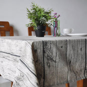 Wood Grain Print Tablecloth