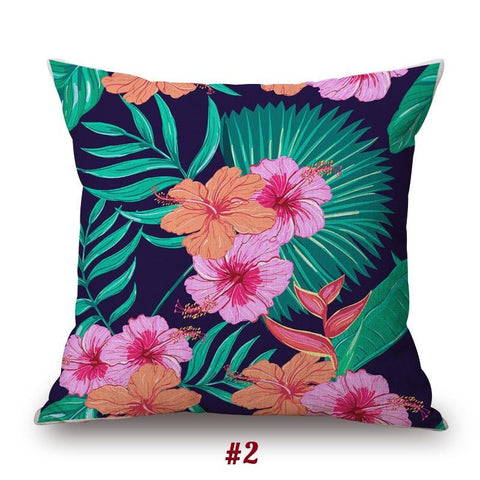 Tropical jungle Print Cushion Cover Collection