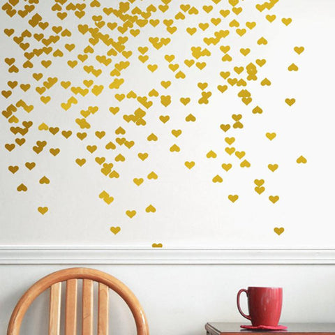 Hearts Pattern Wall Stickers - Wall Art