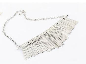 Golden / Silver Fashion Tassel Necklaces