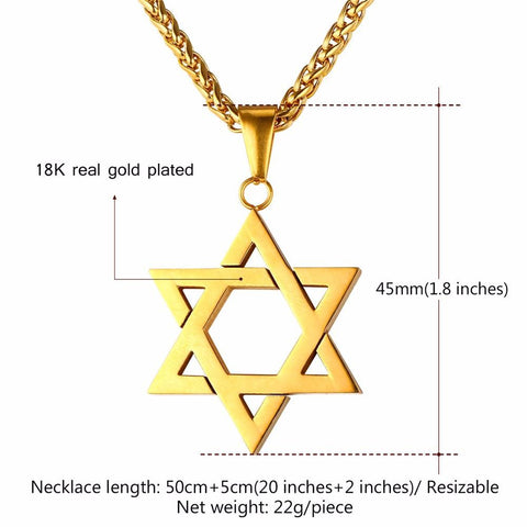 Star of David Pendant Necklaces - New