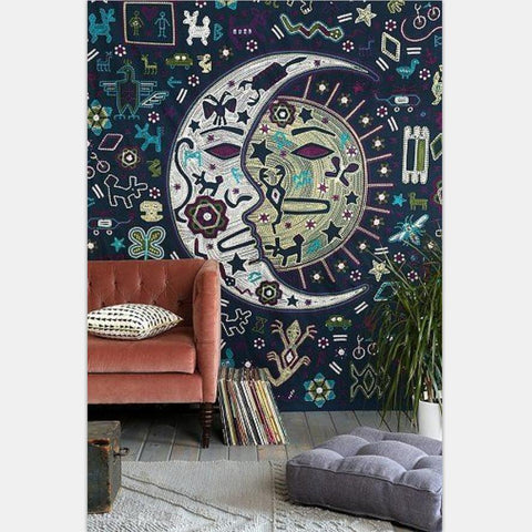 Aztec Inspired Print Tapestry
