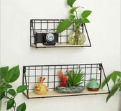 Decorative Metal Grid Shelves