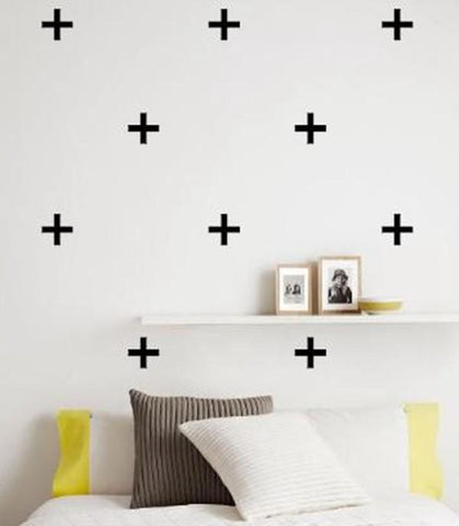 26 pcs of Swiss Cross Pattern Stickers - DIY Wall Art