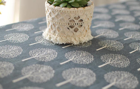 Minimalist Tree Print Table Cloth
