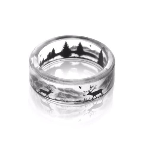 """Northern Scene"" Art Ring (Handmade)"
