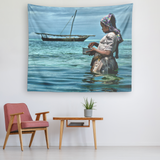 The Fisherwoman -  Original and Exclusive wall art Tapestry