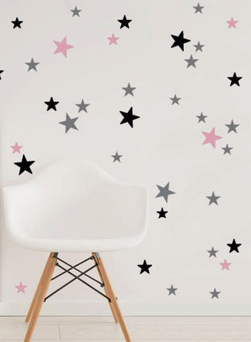 35 pcs of Stars Pattern Vinyl Stickers - DIY Wall Art